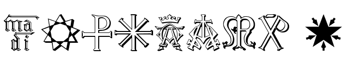 Christian Icons B Monograms Font OTHER CHARS