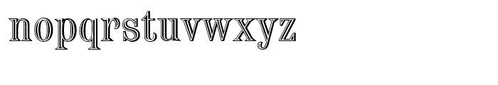 Chisel Initials Standard D Font LOWERCASE