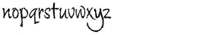 Chalky Regular Font LOWERCASE