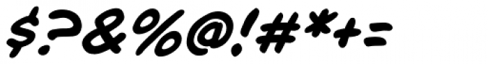 Chatterbox Italic Font OTHER CHARS