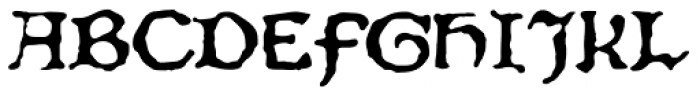 Chaucer Font UPPERCASE