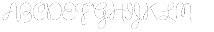 Chelly FY Thin Font UPPERCASE