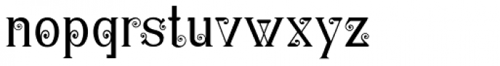 Christel Wagner Clean Fine Font LOWERCASE