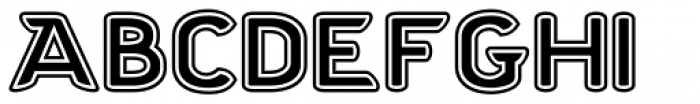 Chubbly Outline 2 Font UPPERCASE