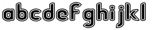Chubbly Outline 2 Font LOWERCASE