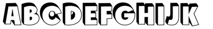 Churchward Freedom TDShadow Font UPPERCASE