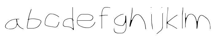CiSf OpenHand Hairline Extended Font LOWERCASE