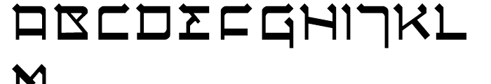 Circumcision Regular Font UPPERCASE