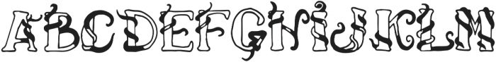 Climbing two otf (400) Font UPPERCASE