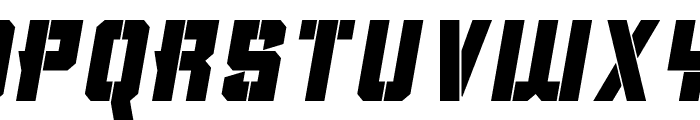 Clean Sports Stencil Font UPPERCASE