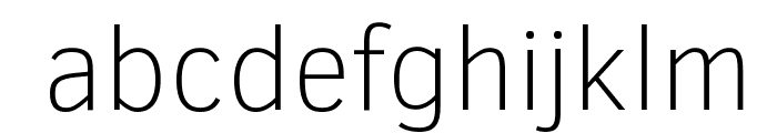 Clear Sans Thin Font LOWERCASE