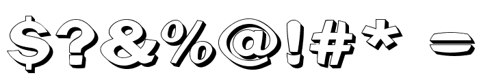 Clearblock circular - 3DFX Font OTHER CHARS