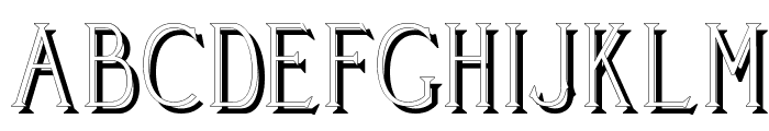 Cleaver's_Juvenia_Shadowed Font UPPERCASE