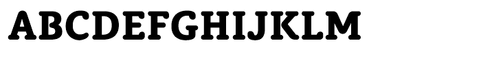 Classic Round Heavy Font UPPERCASE