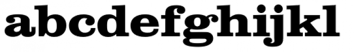 Clarendon Wide Bold Font LOWERCASE