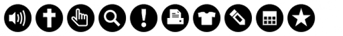 ClickBits Icon Bullets Font OTHER CHARS