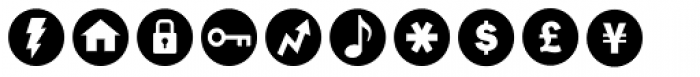 ClickBits Icon Bullets Font UPPERCASE
