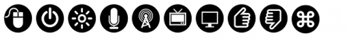 ClickBits Icon Bullets Font LOWERCASE