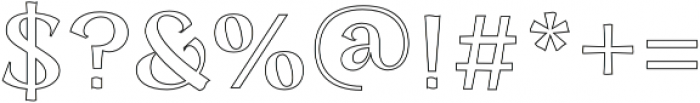 Concreate outline otf (400) Font OTHER CHARS