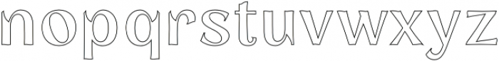 Concreate outline otf (400) Font LOWERCASE