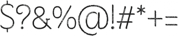Consuelo Rough otf (400) Font OTHER CHARS