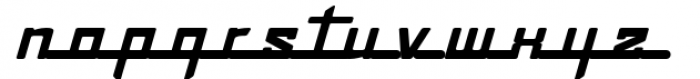 Continental Railway Font LOWERCASE