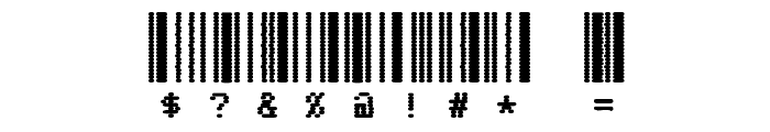 CODE3X D Font OTHER CHARS