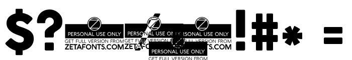 Cocogoose Pro Font OTHER CHARS