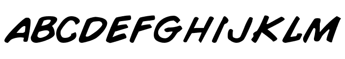 Comic Book Normal Font LOWERCASE