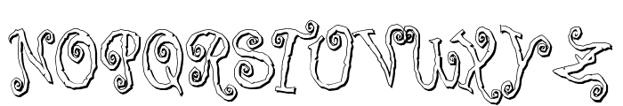 Corps-Script-Shadow Font UPPERCASE
