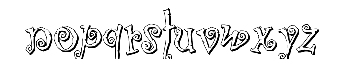 Corps-Script-Shadow Font LOWERCASE
