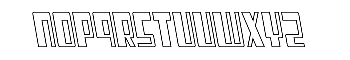 Cosmic Age Outline Italic Font LOWERCASE