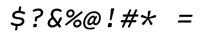 Courier Prime Code Italic Font OTHER CHARS