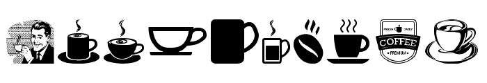 coffee icons Font OTHER CHARS