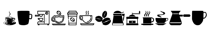 coffee icons Font UPPERCASE