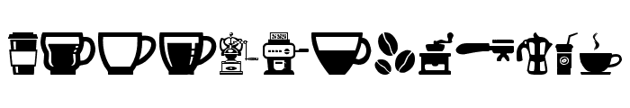 coffee icons Font LOWERCASE
