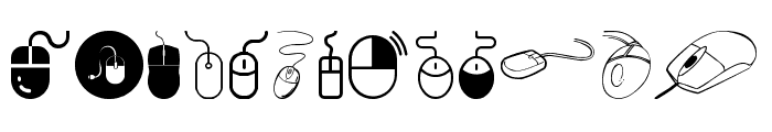 computer mouse Font UPPERCASE
