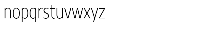 Core Sans N 27 Condensed ExtraLight Font LOWERCASE
