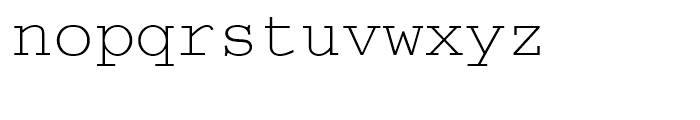 Courier M Light Font LOWERCASE