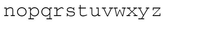 Courier Regular Font LOWERCASE