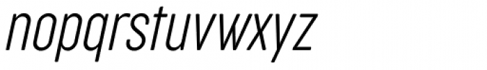 Cocogoose Compressed Ultra Light Italic Font LOWERCASE