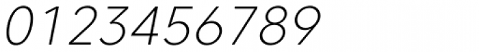 Core Sans C 25 Extra Light Italic Font OTHER CHARS