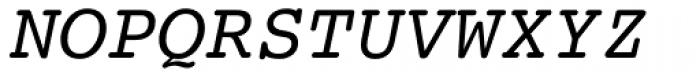Courier 10 Pitch Italic Font UPPERCASE