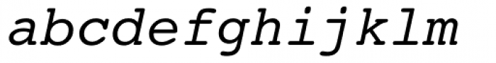 Courier 10 Pitch WGL Italic Font LOWERCASE