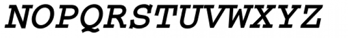 Courier Bold Italic Font UPPERCASE