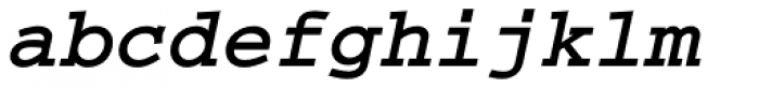 Courier Bold Italic Font LOWERCASE