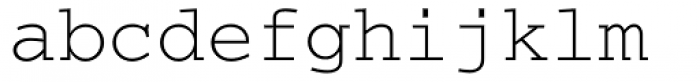 Courier Cyrillic Regular Font LOWERCASE