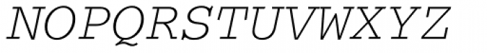 Courier Italic Font UPPERCASE