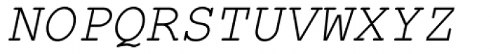 Courier New Italic Font UPPERCASE