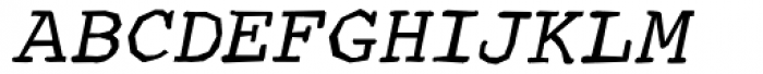 Courier Ragged Bold Oblique Font UPPERCASE